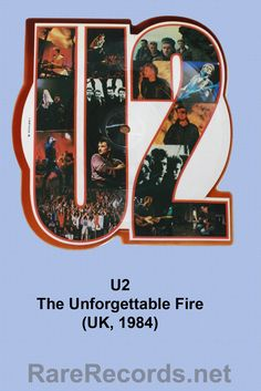 U2 - The Unforgettable Fire - Limited edition single issued in the UK in 1986.  This is actually a reversed image.  #vinyl #records #shapedrecords #picturediscs