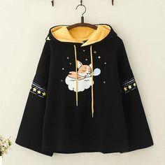 Kawaii Puppy Print Brushed Hoodie Source by Modakawa clothing Teen Fashion Outfits, Mode Outfits, Girl Outfits, Kawaii Fashion, Cute Fashion, Cute Casual Outfits, Pretty Outfits, Mode Kawaii, Kawaii Clothes