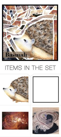 """""""HEDGEHOG!!!!!!!!!!!!!"""" by basmahahmed ❤ liked on Polyvore featuring art"""