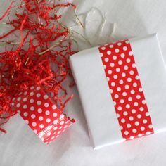 DIY Creative Wrapping Ideas | Red and White Polka Dot Duct Tape