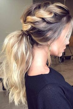 31 Sporty Ponytail Hairstyles To The Gym Hair Braided Hairstyles - pony tail hairstyles sporty pony tail hairstyles with fringe Cool Braid Hairstyles, African Hairstyles, Summer Hairstyles, Hairstyle Ideas, Hairstyles For The Gym, Prom Ponytail Hairstyles, Hairstyles Haircuts, Christmas Party Hairstyles, Updos