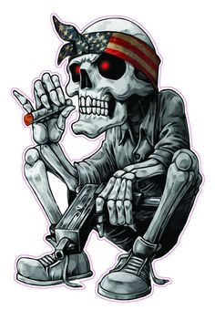 Cool Skull Drawings, Skull Sketch, Skull Artwork, Dark Art Drawings, American Flag Bandana, American Flag Eagle, Skull Rose Tattoos, Totenkopf Tattoos, Hip Hop