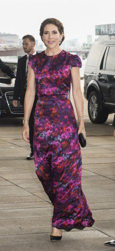 Crown Princess Mary donned an Erdem dress in silk and looked absolutely captivating.