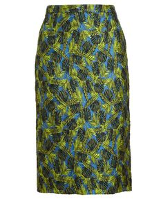 ANTONIO BERARDI | Palm Jacquard Pencil Skirt