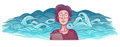 Katsuko Saruhashi was a Japanese geochemist who made some of the first measurements of carbon dioxide levels in seawater and subsequently showed the evidence in seawater and the atmosphere of the dangers of radioactive fallout. Disney Pixar, Disney Characters, Dental Logo, Nuclear Bomb, Birthday Dates, Google Doodles, Ink Illustrations, Illustration Styles, Science
