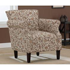 Tiburon Brown Floral Arm Chair