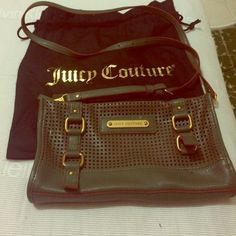 Juicy couture crossbody Firm on the price since its new without tags. Gorgeous color, very different. Comfortable enough to fit wallet, cellphone and powder with lipgloss Juicy Couture Bags Crossbody Bags