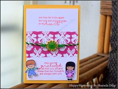 HappyMomentzz crafting by Sharada Dilip: Rakhi cards with Mama Elephant In my heart Rakhi Cards, Handmade Rakhi, Mama Elephant, Indian Festivals, Arts And Crafts Projects, Distress Ink, Pattern Paper, Scrapbooks, My Heart