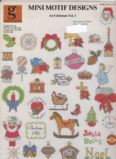 Graphworks Mini Motif Designs Christmas vol 1 leaflet 8 Counted Cross Stitch  (This pattern has been sold. Click through to see if I have something else you would like. I have lots more Graphworks Christmas mini motifs!)