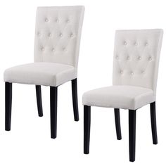 Giantex Set of 2pcs Fabric Dining Chair Armless Chair Modern Home Kitchen Living Room Furniture HW52 - ICON2 Luxury Designer Fixures #Giantex #Set #of #2pcs #Fabric #Dining #Chair #Armless #Chair #Modern #Home #Kitchen #Living #Room #Furniture #HW52