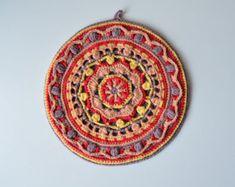 Mandala de ganchillo potholder agarradera por LillaBjornCrochet
