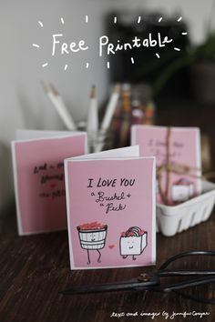 free printable valentines day card!