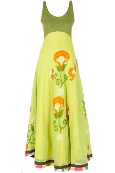 Floral printed green dress available only at Pernia's Pop-Up Shop.
