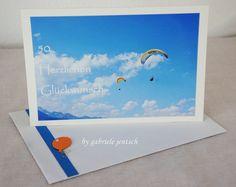 """Geburtstagskarte """"Fliegen"""" von PHOTOGLÜCK auf DaWanda.com"""