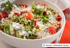 Ha unod a rizst. Vegetable Recipes, Meat Recipes, Vegetarian Recipes, Healthy Recipes, Tzatziki, Vinaigrette, Bulgur Salad, Salad Dishes, Valeur Nutritive