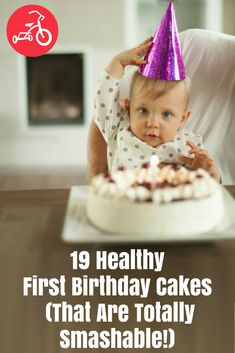 20 Healthy First Birthday Cakes (and Smash Cakes) Sugar-free, gluten-free, fruit-filled, pure 1 Year Old Birthday Cake, Smash Cake First Birthday, Fruit Birthday Cake, Birthday Cake Flavors, Baby Cake Smash, Baby Birthday Cakes, Baby First Birthday, Smash Cakes, Happy Birthday