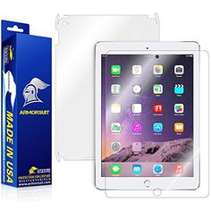 ArmorSuit MilitaryShield  Apple iPad Air 2 Wifi Screen Protector  Full Body Skin Protector  Front  Back AntiBubble Ultra HD  Extreme Clarity  Touch Responsive Shield with Lifetime Free Replacements * You can find out more details at the link of the image. (Note:Amazon affiliate link) #ElectronicGadgets