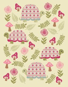 Cheerful Turtles | Prints and other products available at my… | Flickr