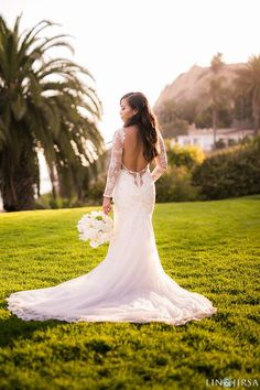 Stunning pre-loved Galia Lahav Navona lace wedding dress with an amazing back for sale at 49% off retail prices! Grab this designer wedding dress for less and look fabulous on your wedding day.  #PreLovedWeddingDresses #DesignerWeddingDressesForSale #GaliaLahavBridal #SaveMoneyOnWeddingDresses