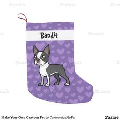Make Your Own Cartoon Pet Small Christmas Stocking