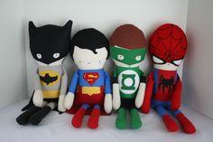 Made to Order Batman Doll Rag Doll Batman Doll by OhSewCuteByMel