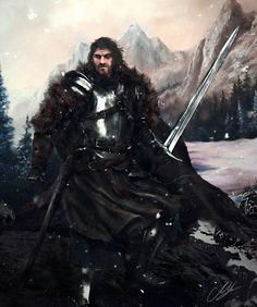 Brandon Stark, the wild wolf, by Mike Hallstein