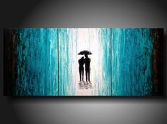 Huge Jmjartstudio Original 3 piece Painting 24 inches X 54 inches  ----- Taking the lead-------Textured. $299.00, via Etsy.