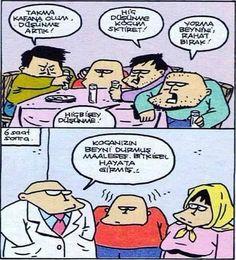 Düşünemeyen Adam Karikatürü Özer Aydoğan   Karikatürname