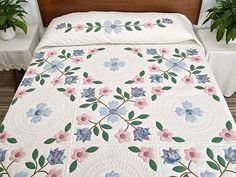 Spring Flowers Quilt -- splendid cleverly made Amish Quilts from Lancaster (hs3701)