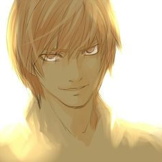 "Light Yagami | Kira _Death Note << I love Light but his last name backwards is ""Imagay"""