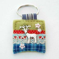 Stag keyring - deer keychain - deer hunting - gifts for hunters - country girl - gifts for farmer - outdoor gifts - UK sellers only