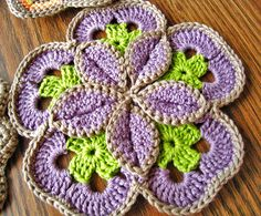 Starburst Potholder #Crochet