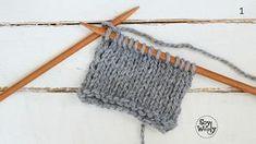 Cómo tejer el punto jersey sin punto del revés Filet Crochet, Knit Crochet, Crochet Stars, Knitting Stitches, Casual Chic, Crafts, Stockinette, Scrappy Quilts, Craft