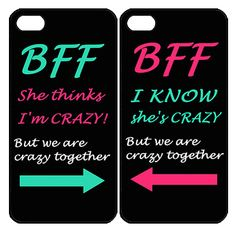Best Friend BFF Samsung Galaxy S3 S4 S5 Note 3 case, iPhone 4 4S 5 5s 5c case, iPod Touch 4 5 Couple Case