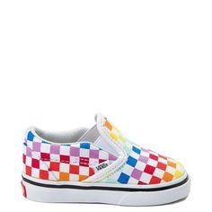 9b7edd9275 Vans Slip On Rainbow Chex Skate Shoe - Baby   Toddler