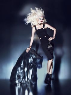 Sasha Pivovarova, Abbey Lee Kershaw, Daphne Groeneveld & Lindsey Wixson for Versace for H&M; Campaign by Mert & Marcus