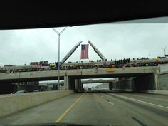 Nothing like our nation coming together on bridges and overpasses on I-35 to celebrate a fallen hero. God Bless You, Chris Kyle & every other solider out there risking their lives for our freedom. Taken here in Temple, Texas