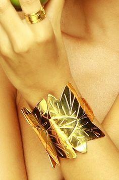 Paraiso - Alejandra Valdivieso Brazalete 4 Evas dorado * Bangle