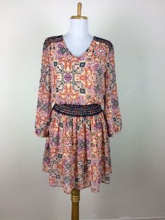 Anthropologie Vanessa Virginia Daytripper Dress Sz Small Chiffon Bohemian Floral #Anthropologie