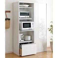 for kitchen equipment Aluminum Kitchen Cabinets, Aluminium Kitchen, Kitchen Cabinet Styles, Kitchen Appliance Storage, Diy Kitchen Storage, Kitchen Decor, Microwave Cabinet, Muji Home, Kitchen Board