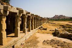 Hampi Ruins-- Hampi, in the West of India