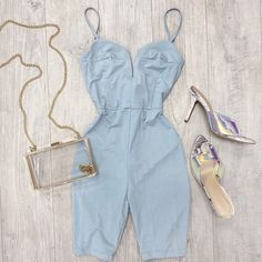"FASHION  AVE's Instagram profile post: ""Jocelyn romper$32.99, Carmel heel $29.99, clear purse $32.99 💕  available online @fashionavebtq  #romper #shopsmallbusiness #shopsmall…"""