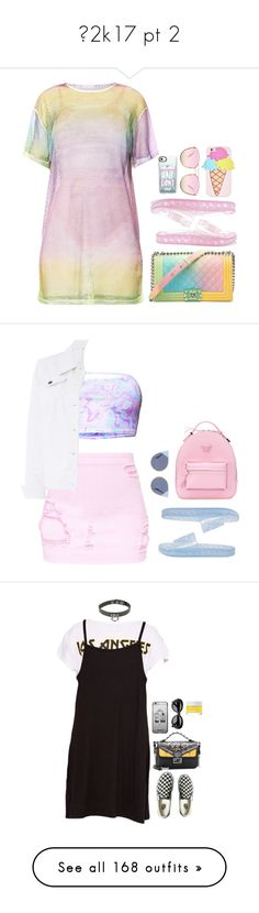 """""""☀2k17 pt 2"""" by locaalvibess ❤ liked on Polyvore featuring Chanel, Puma, Quay, Celebrate Shop, Casetify, Versace, Fendi, Dorothy Perkins, Vans and Acne Studios"""