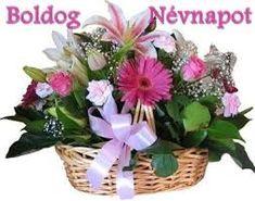 névnapi képeslapok - Google-keresés La Multi Ani Gif, Holiday Gif, Name Day, Topiary, Cut Flowers, Flower Arrangements, Diy And Crafts, Happy Birthday, Erika