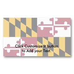 Maryland Gifts on Zazzle High Quality Business Cards, Card Templates, Maryland, Personalized Gifts, United States, Ads, Card Patterns, Customized Gifts, Personalised Gifts