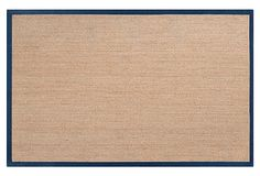 Village Sea Grass Rug, Tan/Navy on OneKingsLane.com - entrance rug for front door idea