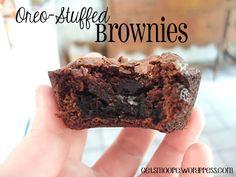 Oreo Stuffed Brownies! Yum.