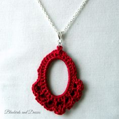 Deep Red Cotton Necklace - The Supermums Craft Fair