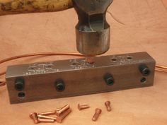 Copper Rivet Making Tool Makes Three Sizes 9 12 and by Heromount
