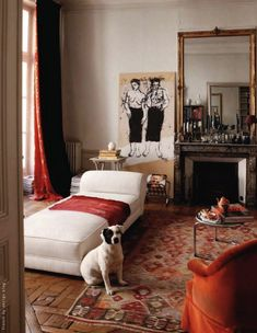 the Saint-Germain-des-Prés, Paris VI, apartment of artist Kyo. Photos Jean Marc Palisse for Cote Paris